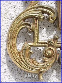 07D45 GRAND MIROIR BRONZE DORE 100 x 58 cm STYLE LOUIS XV XVI ROCAILLE ROCOCO