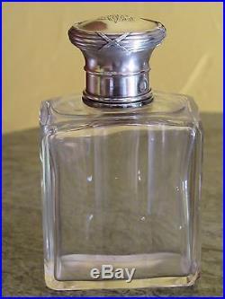 08d49 Ancien Nécessaire Flacon De Toilette Argent Massif Minerve Style Louis XVI