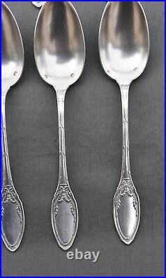 12 CUILLÈRES à Café en Argent Massif Minerve style LOUIS XVI (coffee spoons)