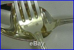 12 couverts entremets/dessert 24 pc, métal argenté Ruban fleuri, style Louis XVI