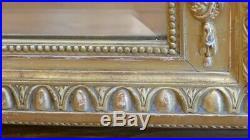 180105 Cm, Très Grande Glace De Style Louis XVI En Bois Stuc Doré, Napoléon III