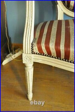 4 Fauteuils médaillon style Louis XVI