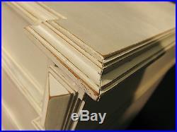 ANCIENNE COMMODE STYLE LOUIS XVI en bois patiné blanc Shabby 5 tiroirs
