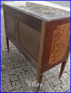 ANCIENNE COMMODE STYLE LOUIS XVI marqueterie & bois de rose EPOQUE XXeme