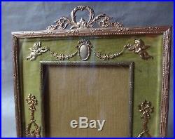 Ancien Cadre en bronze, laiton. Style Louis XVI