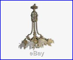 Ancien Lustre En Bronze Style Louis XVI