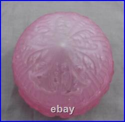 Ancien Lustre Suspension Plafonnier Style Louis XVI Verre Rouge Cranberry Obus