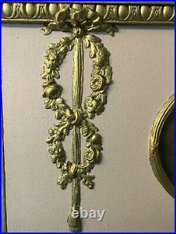 Ancien Trumeau Style Louis XVI bois doré et Scéne galante miroir au mercure
