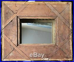 Ancien cadre 1F à clés bois stucs style Louis XVI Epoque XVIIIe 18TH A RESTAURER