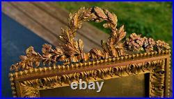 Ancien cadre en bronze doré style louis XVI d'epoque 19 eme Top Qualité