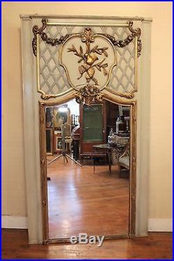 Ancien et important trumeau style louis XVI, 18 ème siècle