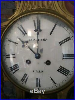 Ancien grand cartel d applique de style louis XVI de la maison raingo paris