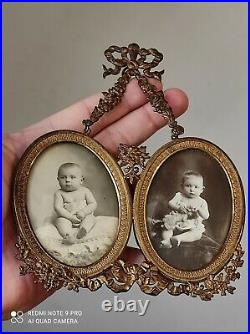 Ancien porte-photos en bronze / Style Louis XVI