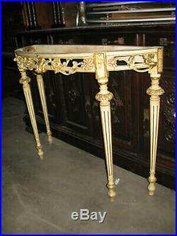 Ancienne Console En Bois Peint De Style Louis XV Transition Louis XVI Venitienne
