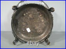 Ancienne Coupe A Fruits Style Louis XVI En Bronze Et Métal Argenté / Orfèvrerie
