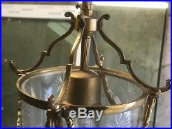 Ancienne Lanterne Lustre Bronze Style LOUIS XVI