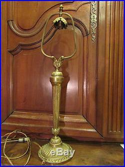 Ancienne grande lampe en bronze doré epoque 19 eme 63,5 cm style louis XVI