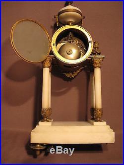Ancienne pendule portique style louis XVI époque XIX ème siècle