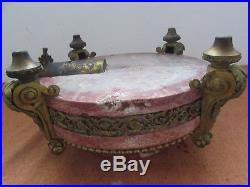 Ancienne pendule style louis XVI en marbre et bronze