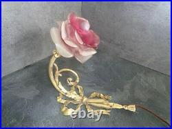 Applique Ancienne XIX°Bronze Doré Style Louis XVI noeud