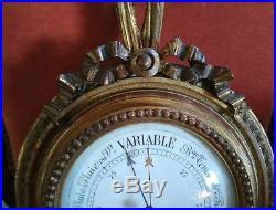 Baromètre Bois Doré Style Louis XVI du XIXème