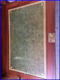 Beau Secrétaire En Acajou Dessus Marbre Blanc Style Louis XVI