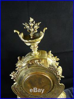 Beau et grand cartel en bronze fin XIXéme style Louis XVI