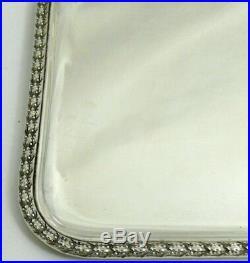 Beau plateau argent massif Minerve style Louis XVI, 669 g