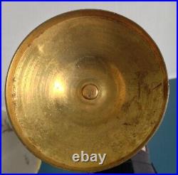 Belle Paire de Bougeoirs XIXéme Bronze Laiton Doré style Louis XVI