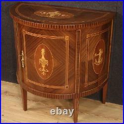 Buffet meuble commode en bois incrusté style ancien Louis XVI salon 900