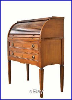 Bureau Secretaire cylindre ancien style Louis XVI