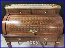 Bureau Style Louis XVI à Cylindre