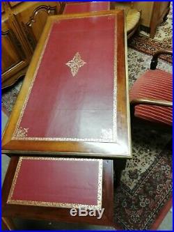 Bureau ancien de style Louis XVI en bois Franz. Antique writing desk Louis XVI