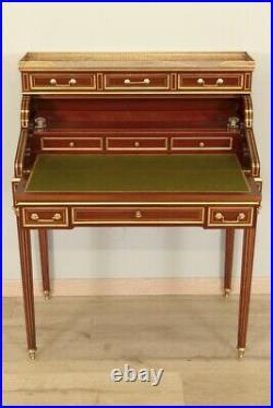 Bureau de pente acajou style Louis XVI