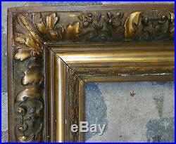 CADRE BARBIZON XIXème MAGNIFIQUE Décor de fleurs et de feuillage. Style Louis XVI