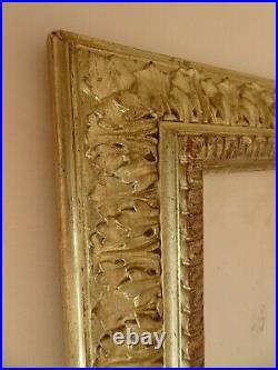 CADRE DE STYLE LOUIS XVI EN BOIS DORE. XIX°. Gravure, Peinture, aquarelle, dessin