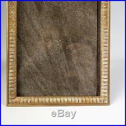 CADRE PHOTO BRONZE DORÉ DÉBUT 1900 STYLE LOUIS XVI vue 13,5 x 9,5 cm