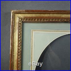 CADRE STYLE LOUIS XVI époque 1900 vue ovale passe-partout 33,5 x 27,5 cm