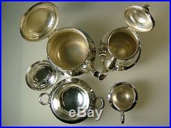 CHRISTOFLE service à café/thé style louis XVI modèle ruban croisé métal argenté