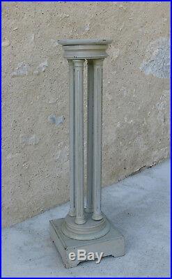 COLONNE SELLETTE, sellette style Louis XVI à 4 colonnes, colonne ancienne