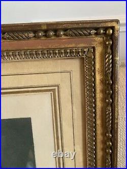 Cadre Style Louis XVI XIX Eme Avec Gravure