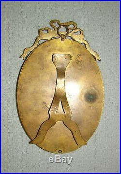 Cadre ovale bronze doré style Louis XVI XIXè Bronze frame