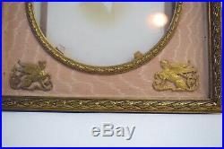 Cadre photo style louis XVI Bronze Tissus Napoleon III XIX 19th