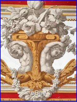 Cadres décoratifs de style Louis XVI, dessus de porte