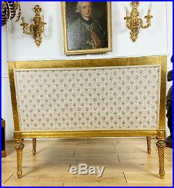 Canapé Banquette Époque Napoléon III En Bois Doré Et Sculpté De Style Louis XVI