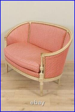 Canapé peint style Louis XVI