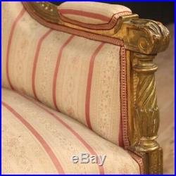 Canapé sofa meuble en bois doré style ancien Louis XVI de salon 900 siège