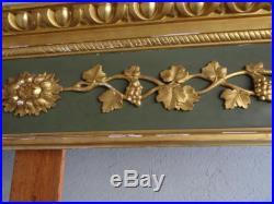 Cantonnière style Louis XVI laquée dorée