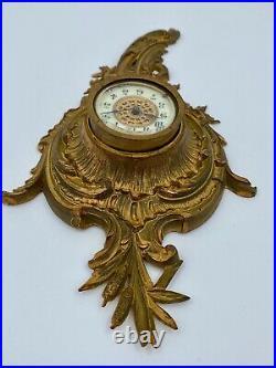 Cartel En Bronze XIX Eme Napoleon III Cadran Email Mural Style Louis XV M65
