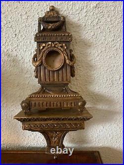 Cartel porte-montre style Louis XVI